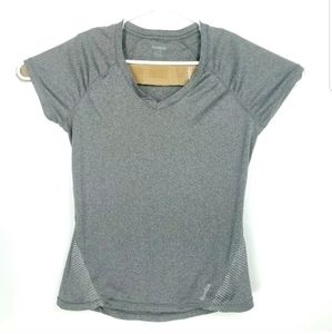 Reebok Womens Large Top V Neck Activewear